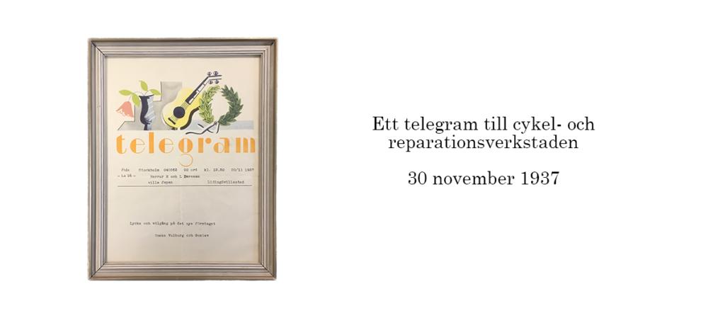 Lidingö Lås telegram med text